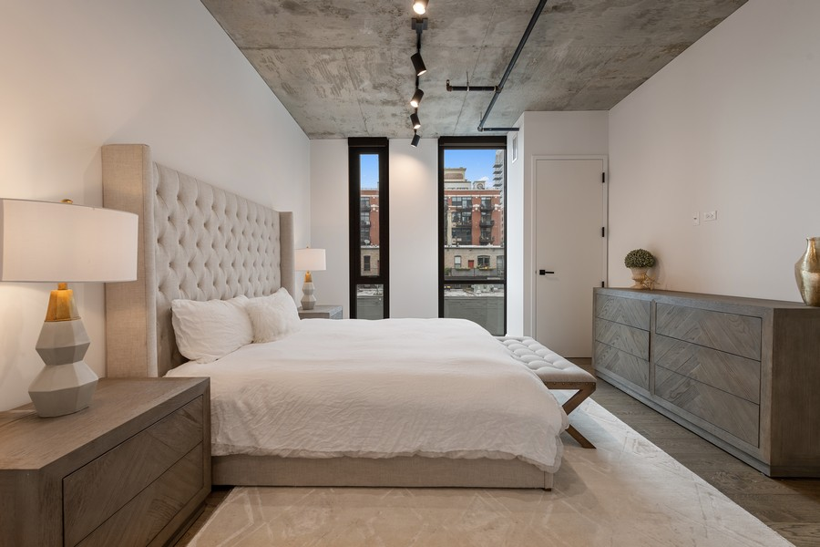 Real Estate Photography - 111 S Peoria St, Chicago, IL, 60607 - Master Bedroom