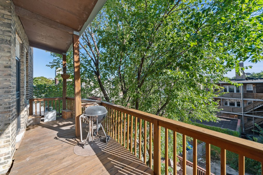 Real Estate Photography - 6423 N Newgard Ave, #3, Chicago, IL, 60626 - Deck