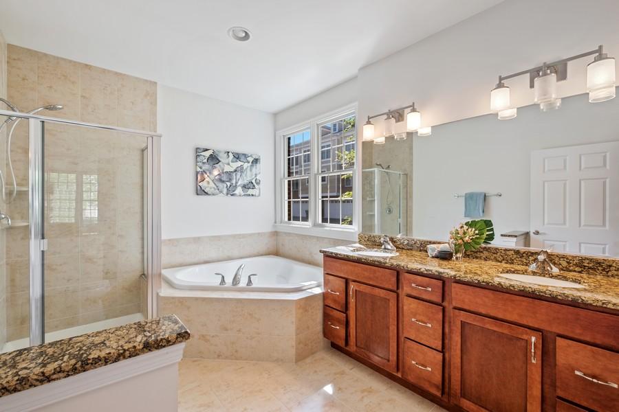 Real Estate Photography - 1698 Patriot Blvd, Glenview, IL, 60026 - Master Bathroom
