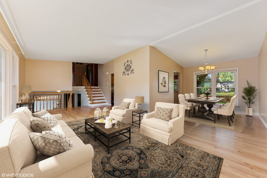 Real Estate Photography - 1912 N Spruce Terrace, Arlington Heights, IL, 60004 - Living Room/Dining Room