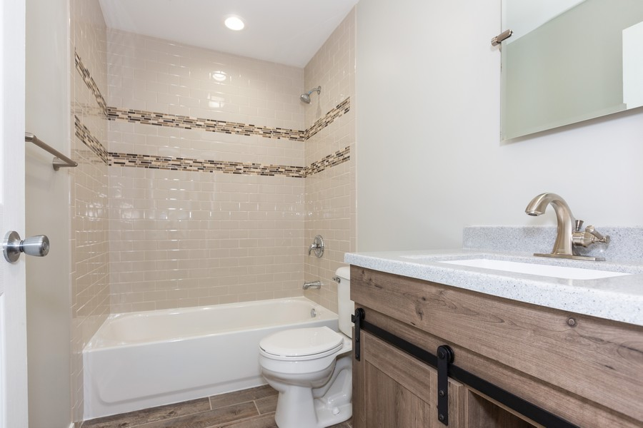 Real Estate Photography - 405 Bass Street, Wilmington, IL, 60481 - 2nd Bathroom