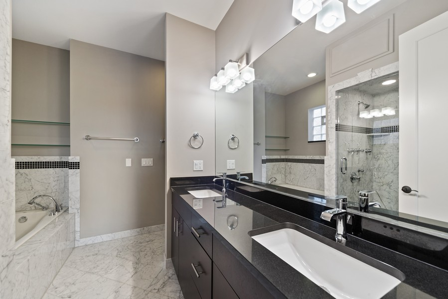 Real Estate Photography - 1505 W. Walton, #3, Chicago, IL, 60622 - Master Bathroom