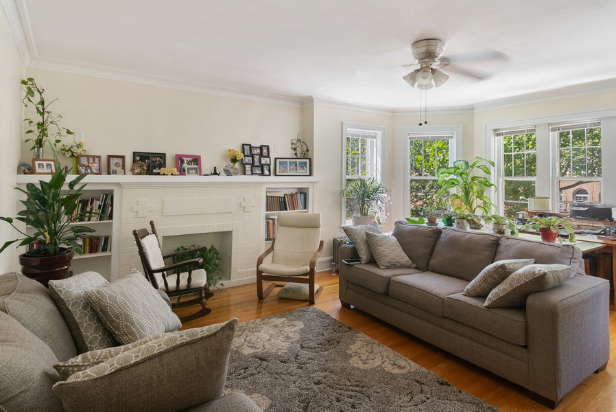 Real Estate Photography - 7515 N Claremont Ave, Chicago, IL, 60645 - Unit 2 Living Room