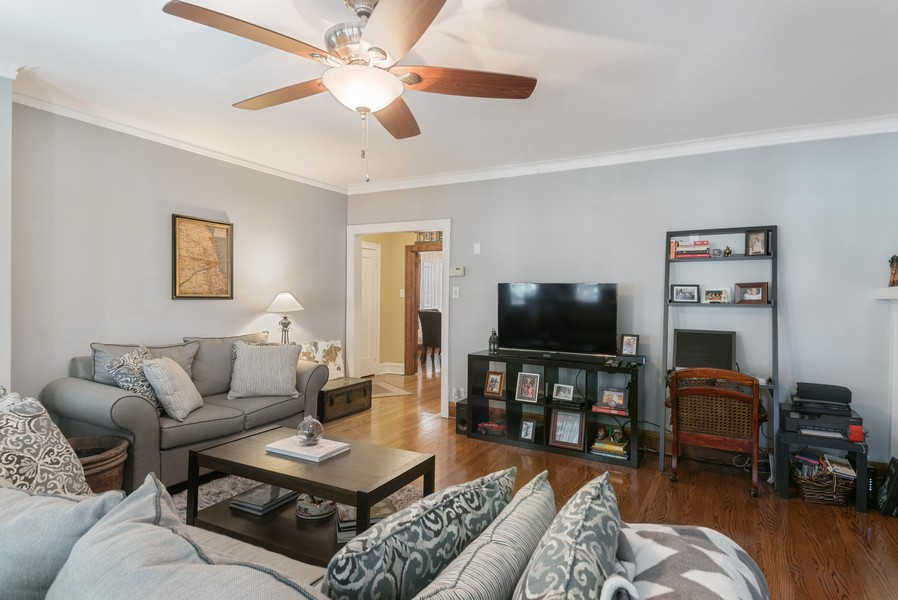 Real Estate Photography - 7515 N Claremont Ave, Chicago, IL, 60645 - Unit 1 Living Room