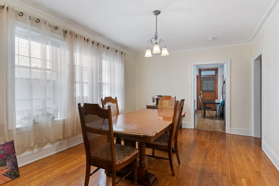 Real Estate Photography - 7515 N Claremont Ave, Chicago, IL, 60645 - Unit 2 Dining Room