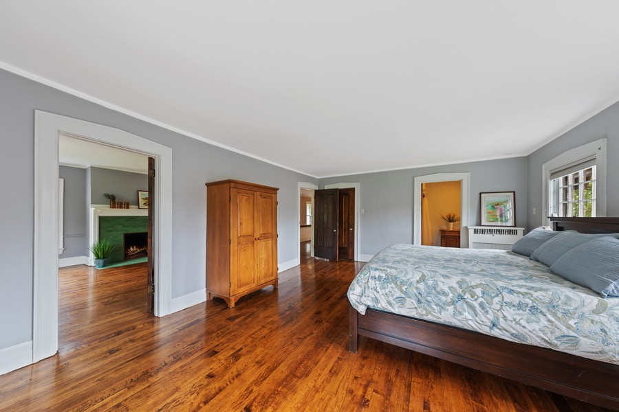 Real Estate Photography - 321 North Delaplaine Road, Riverside, IL, 60546 - Master Bedroom