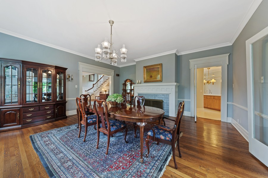 Real Estate Photography - 321 North Delaplaine Road, Riverside, IL, 60546 - Dining Room