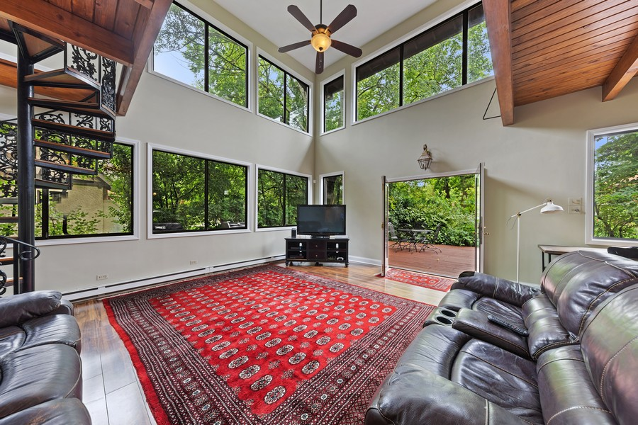 Real Estate Photography - 321 North Delaplaine Road, Riverside, IL, 60546 - Family Room