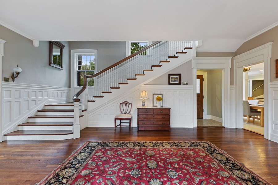 Real Estate Photography - 321 North Delaplaine Road, Riverside, IL, 60546 - Foyer