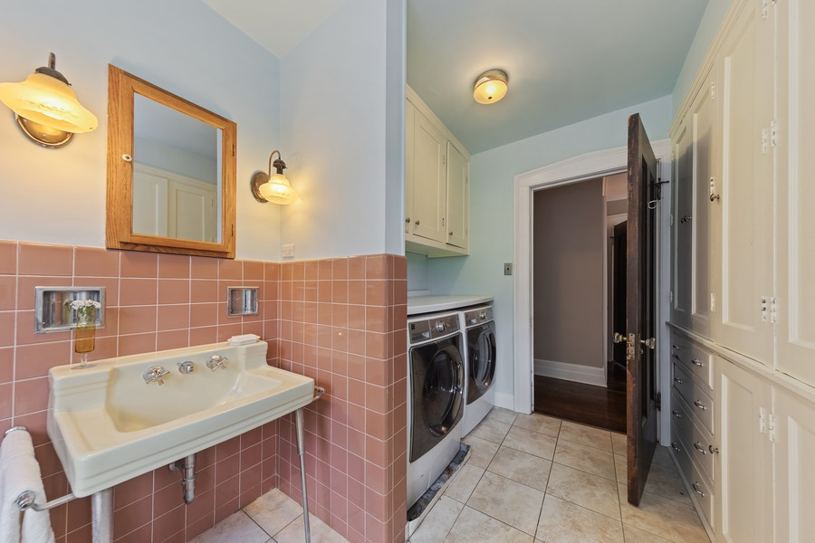 Real Estate Photography - 321 North Delaplaine Road, Riverside, IL, 60546 - Laundry Room