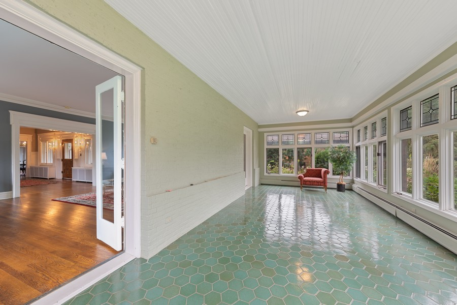 Real Estate Photography - 321 North Delaplaine Road, Riverside, IL, 60546 - Sunroom
