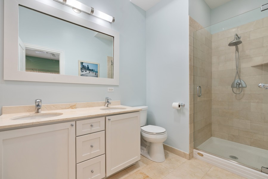 Real Estate Photography - 906 N Hermitage, Unit 1, Chicago, IL, 60642 - Master Bathroom