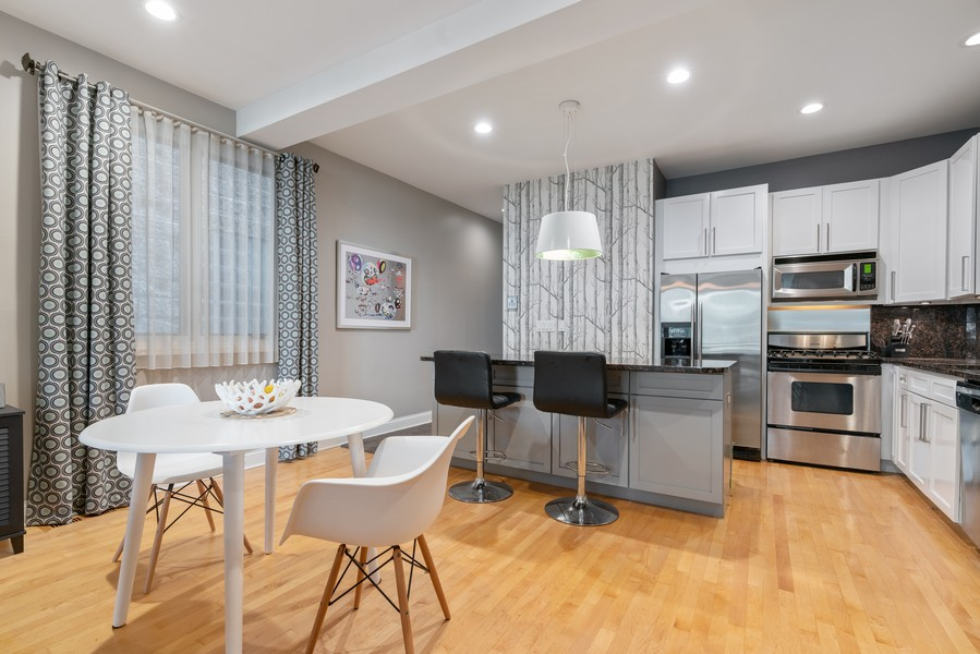 Real Estate Photography - 906 N Hermitage, Unit 1, Chicago, IL, 60642 - Dining Area