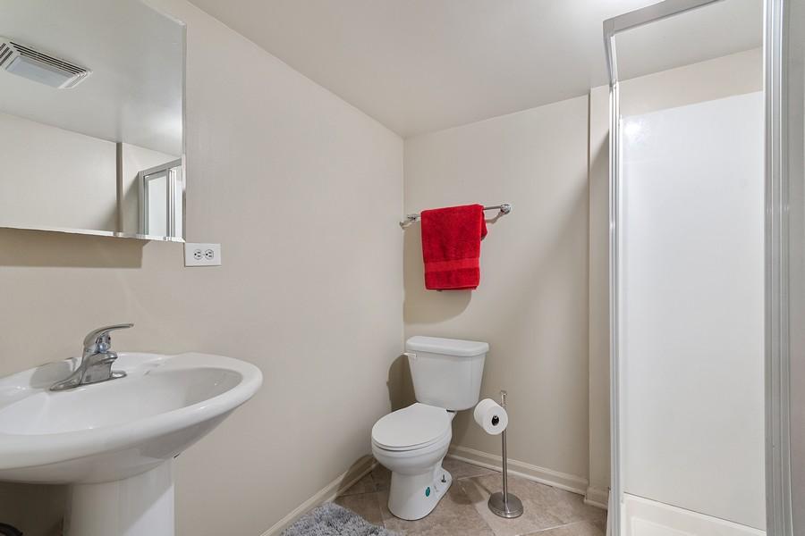 Real Estate Photography - 23W528 Burdette Avenue, Carol Stream, IL, 60188 - 2nd Bathroom