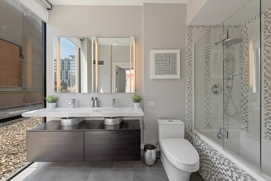 Real Estate Photography - 435 W. Erie St., 702, Chicago, IL, 60654 - Master Bathroom