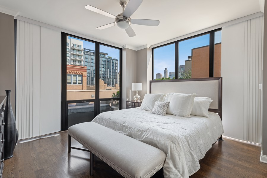 Real Estate Photography - 435 W. Erie St., 702, Chicago, IL, 60654 - Master Bedroom