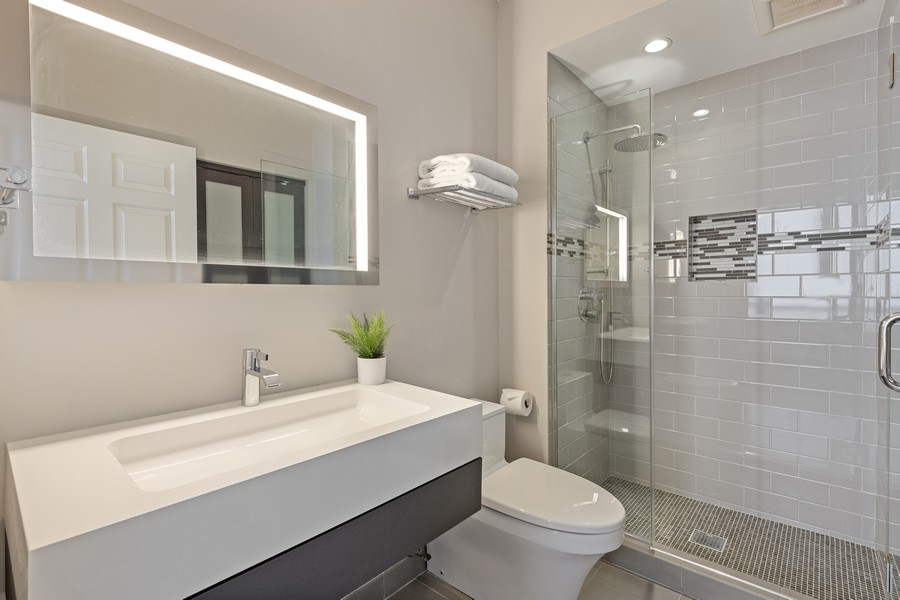 Real Estate Photography - 435 W. Erie St., 702, Chicago, IL, 60654 - 2nd Bathroom