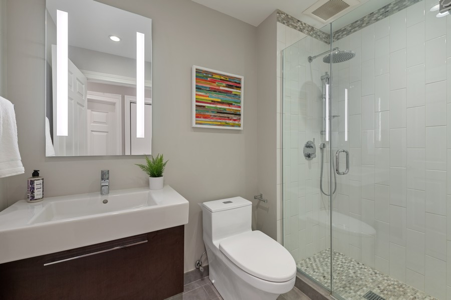Real Estate Photography - 435 W. Erie St., 702, Chicago, IL, 60654 - 3rd Bathroom