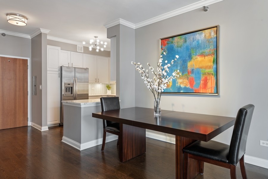 Real Estate Photography - 435 W. Erie St., 702, Chicago, IL, 60654 - Kitchen / Dining Room