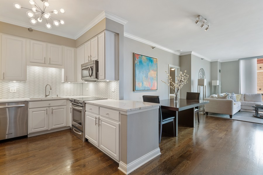 Real Estate Photography - 435 W. Erie St., 702, Chicago, IL, 60654 - Kitchen/Dining
