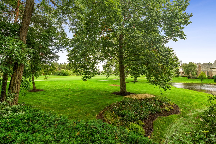 Real Estate Photography - 4 Kensington Drive, North Barrington, IL, 60010 - Property and Pond toward Clubhouse