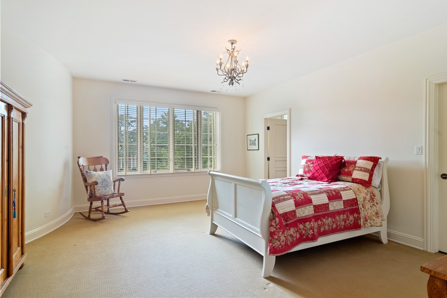 Real Estate Photography - 4 Kensington Drive, North Barrington, IL, 60010 - Bedroom #2 with Ensuite