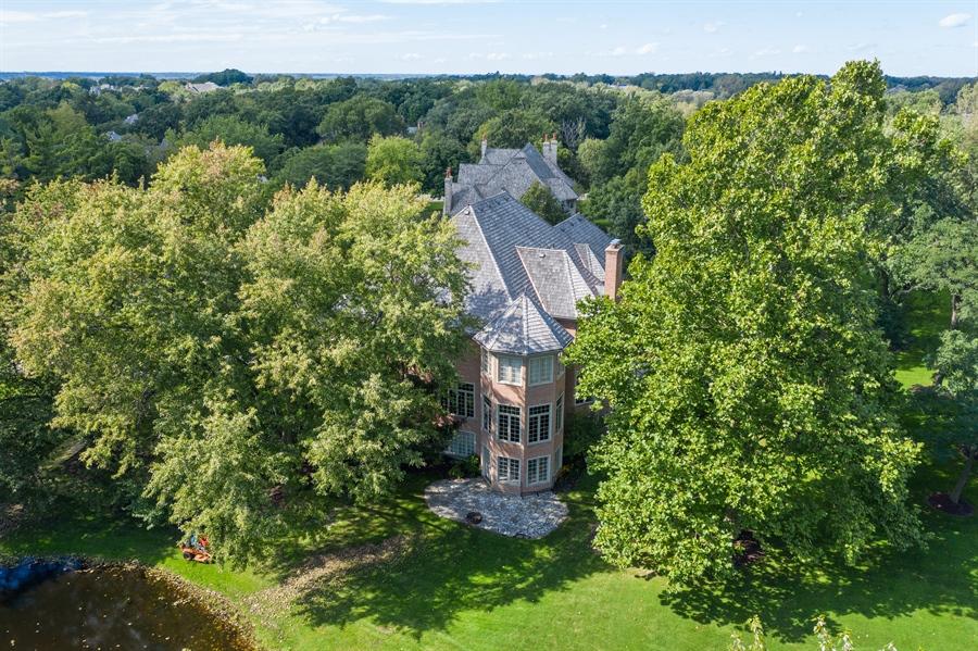 Real Estate Photography - 4 Kensington Drive, North Barrington, IL, 60010 - Aerial View