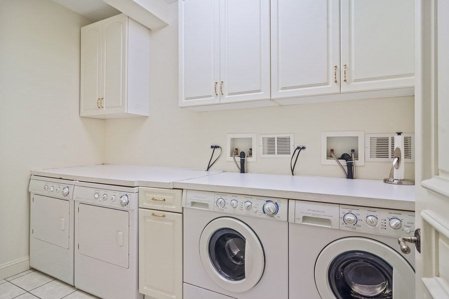 Real Estate Photography - 4 Kensington Drive, North Barrington, IL, 60010 - 1 of 2 -Second Floor Laundry
