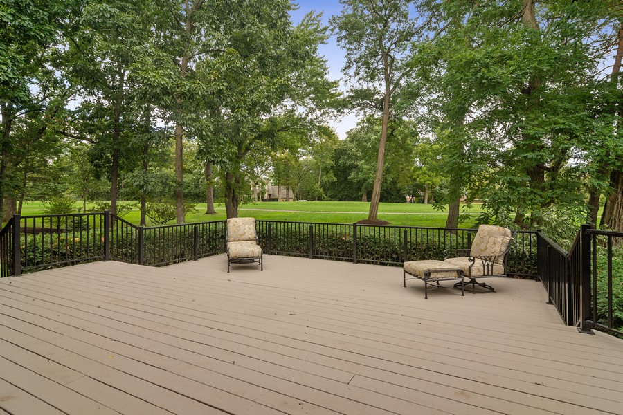 Real Estate Photography - 4 Kensington Drive, North Barrington, IL, 60010 - Two Level Deck overlooking golf course