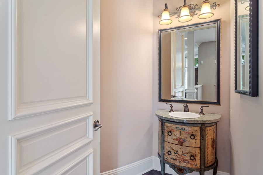 Real Estate Photography - 4 Kensington Drive, North Barrington, IL, 60010 - Guest Powder Room