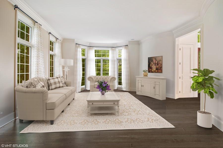 Real Estate Photography - 4 Kensington Drive, North Barrington, IL, 60010 - Living Room
