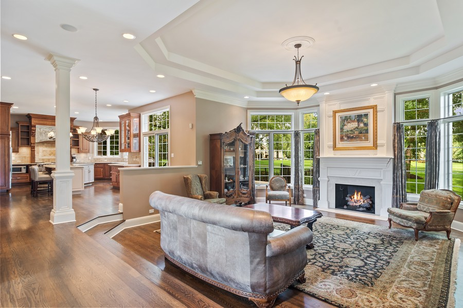 Real Estate Photography - 4 Kensington Drive, North Barrington, IL, 60010 - Family Room Open Floor Plan