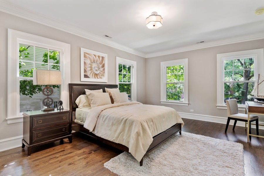 Real Estate Photography - 1625 Judson Ave, Evanston, IL, 60201 - 2nd Bedroom