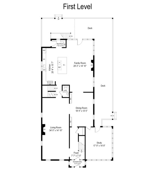 Real Estate Photography - 1625 Judson Ave, Evanston, IL, 60201 - Floor Plan