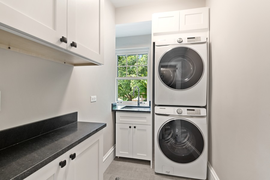 Real Estate Photography - 1625 Judson Ave, Evanston, IL, 60201 - Second Floor Laundry Room