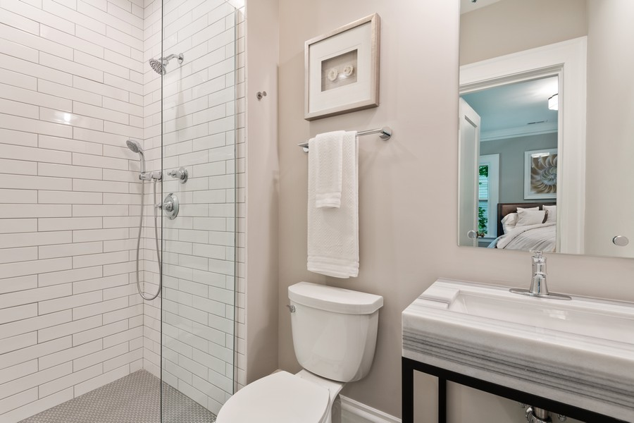 Real Estate Photography - 1625 Judson Ave, Evanston, IL, 60201 - 2nd Bathroom