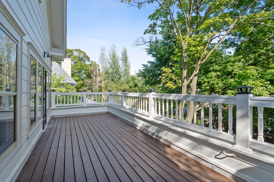 Real Estate Photography - 1625 Judson Ave, Evanston, IL, 60201 - Balcony off of Office