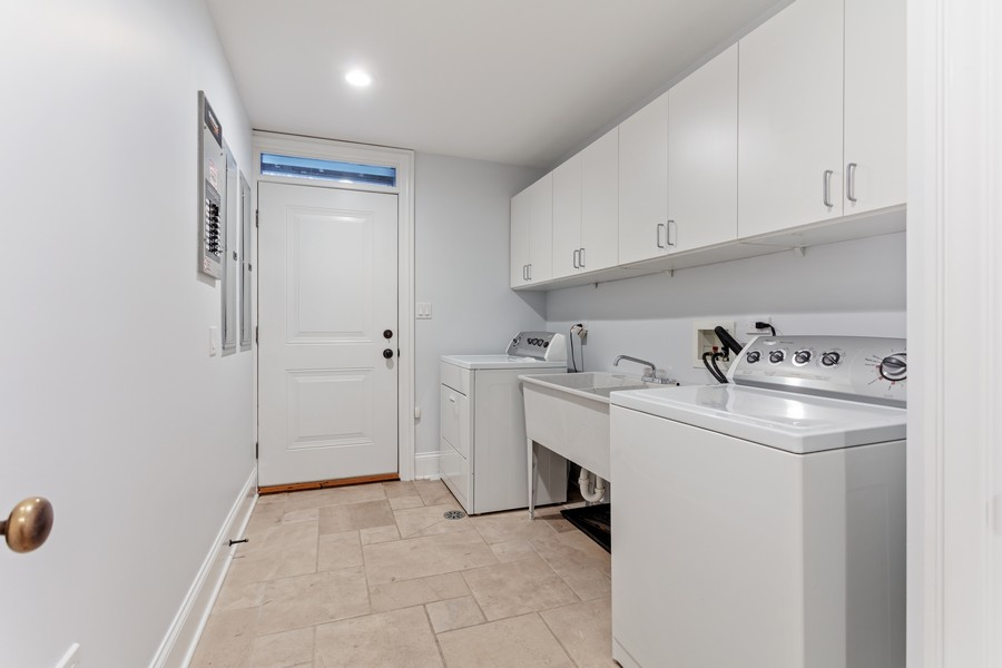 Real Estate Photography - 1460 W Byron St, Chicago, IL, 60613 - Laundry - Lower Level