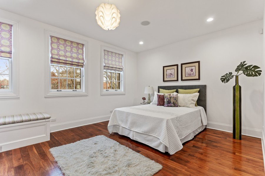 Real Estate Photography - 1460 W Byron St, Chicago, IL, 60613 - Guest Bedroom Two