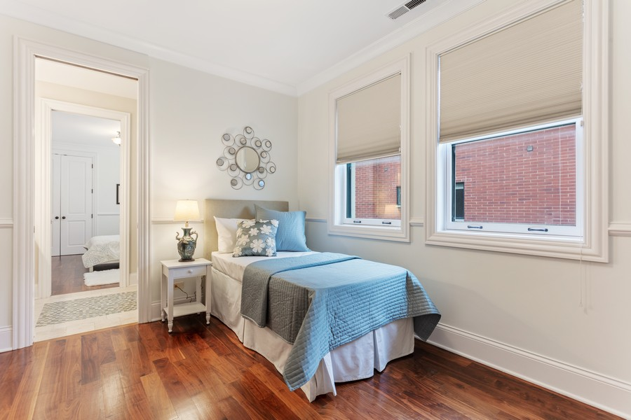 Real Estate Photography - 1460 W Byron St, Chicago, IL, 60613 - Guest Bedroom One