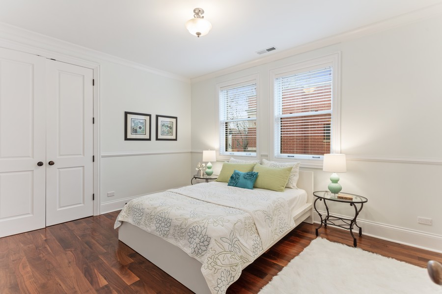 Real Estate Photography - 1460 W Byron St, Chicago, IL, 60613 - Guest Bedroom Four