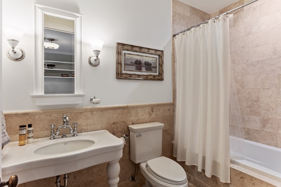 Real Estate Photography - 1460 W Byron St, Chicago, IL, 60613 - Guest Bathroom