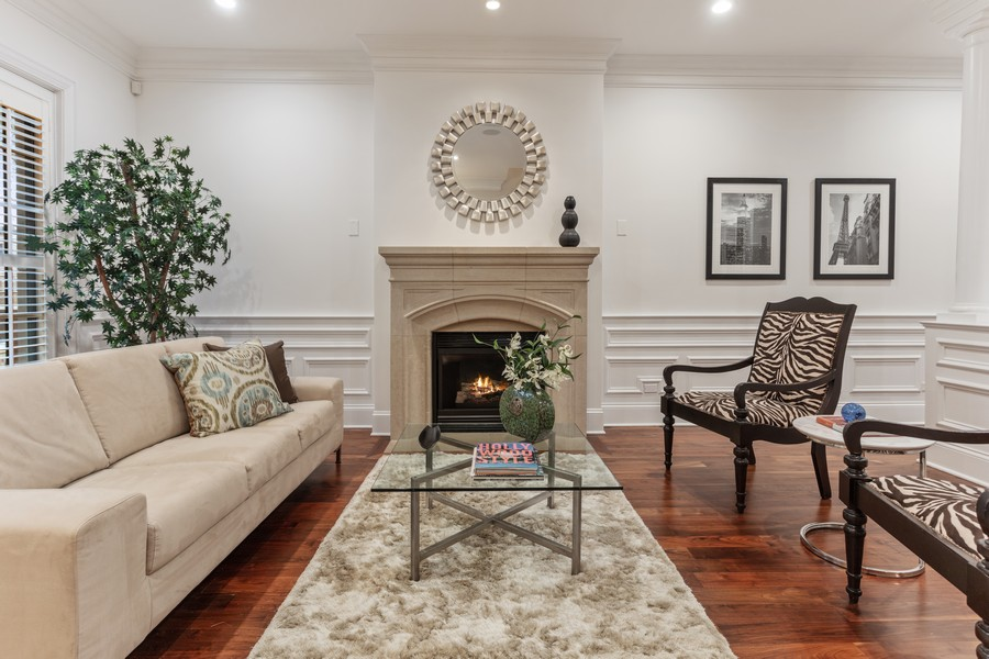 Real Estate Photography - 1460 W Byron St, Chicago, IL, 60613 - Living Room