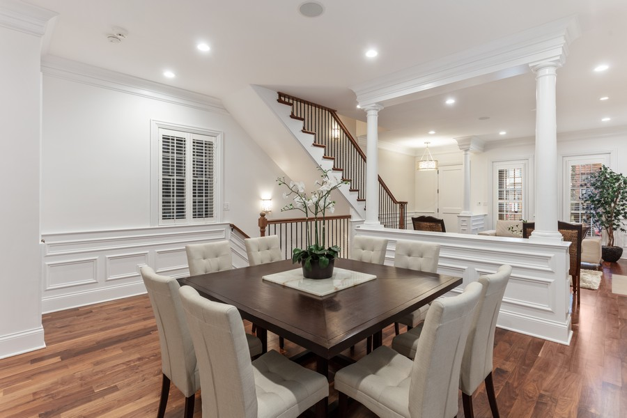 Real Estate Photography - 1460 W Byron St, Chicago, IL, 60613 - Dining Room