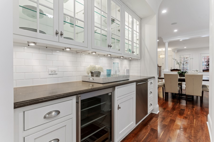 Real Estate Photography - 1460 W Byron St, Chicago, IL, 60613 - Butler's Pantry