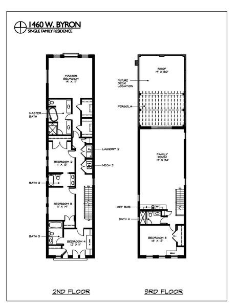 Real Estate Photography - 1460 W Byron St, Chicago, IL, 60613 - Floorplan