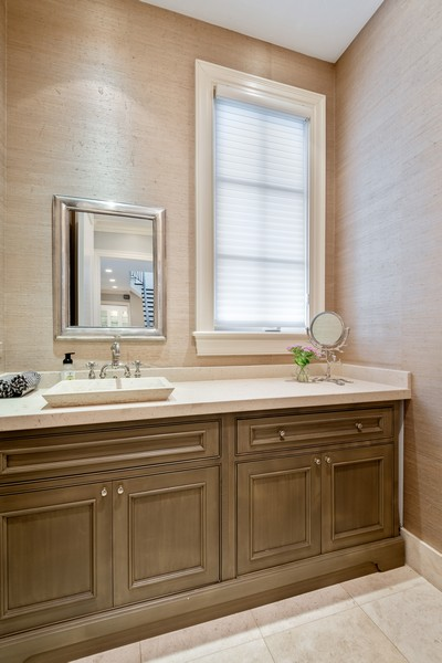 Real Estate Photography - 241 Harbor, Glencoe, IL, 60022 - Formal Powder Room