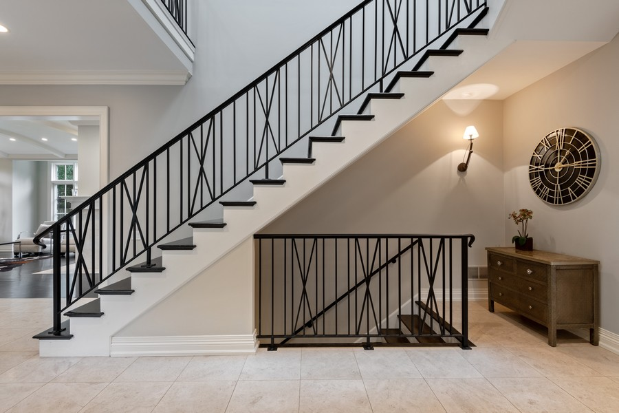Real Estate Photography - 241 Harbor, Glencoe, IL, 60022 - Staircase