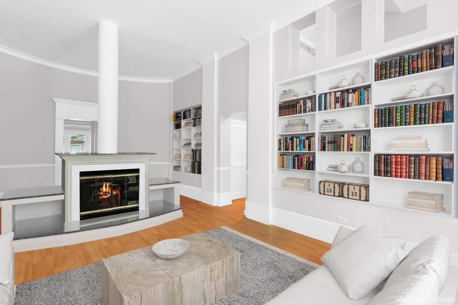 Real Estate Photography - 1255 W Webster, Chicago, IL, 60614 - Living Room