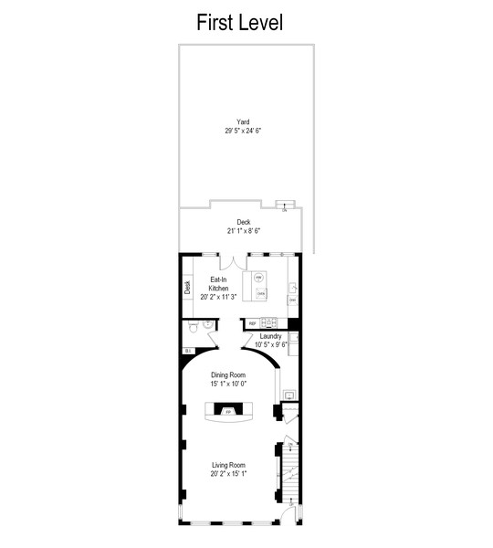 Real Estate Photography - 1255 W Webster, Chicago, IL, 60614 - Floor Plan